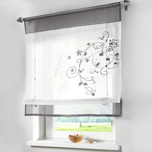 New European style embroidery roman curtain roller curtains for window balcony and kitchen curtains