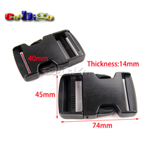 "5~100pcs Pack 1-1/2""(40mm) Webbing Side Release Buckle Plastic for Tactical Backpack Straps Garment Accesssories#FLC406-40B"