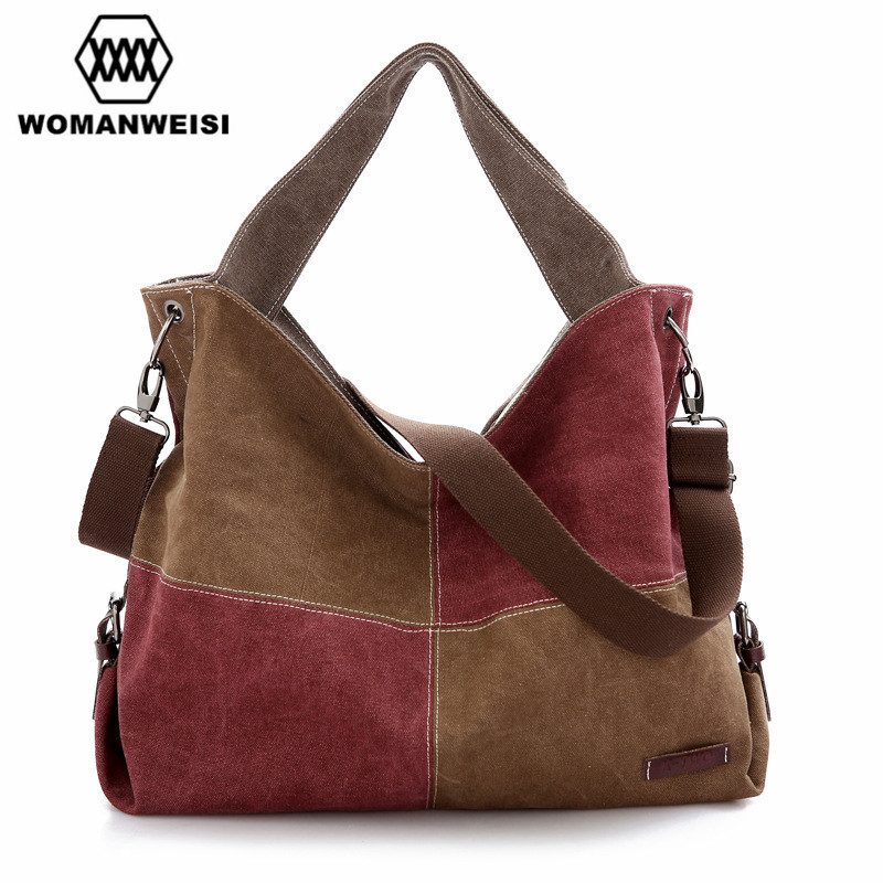 WOMANWEISI Brand Women Messenger Bags Casual Canvas Large Tote Bags Female Handbags 2017 Womens Crossbody Shoulder Bags Bolsos<br><br>Aliexpress