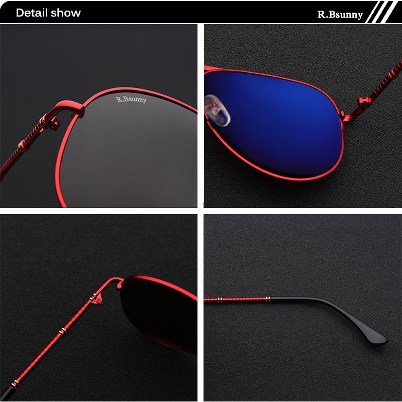 Fashion women sunglasses High quality classic brand polarized HD men sunglasses Driving Anti-glare UV400 Goggle R.Bsunny R1616 4
