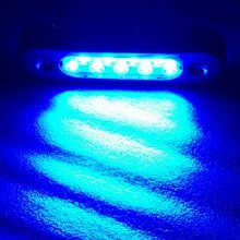 "Non-Polarized Multi-Voltage 6"" Marine Yachting Underwater Blue Lights for Boats"