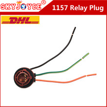 200PCS cable 1157 BAY15D Connector adapter Female Car Light Cable PY21/5W Automotive Bulb Socket LED Bulbs Wire relay harness