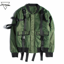 Aelfric Eden Bomber Jacket Men Harbor Pilots MA1 Jacket Casual Ribbon Spliced Patch Jacket Male Thicker Coats Brand Clothing(China)