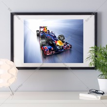 F1 Race Car Vintage Retro Posters And Prints Home Decoration   Canvas Painting Modern Wall Art Picture Silk Fabric