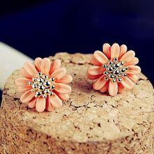 Cute Earring Free Shipping Fashion New Hot Exquisite Small Daisy Flower Earings Jewelry Accessories Stud Earrings For Women
