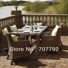 NEW!6 Seater rattan dining Garden Furniture Set(China)