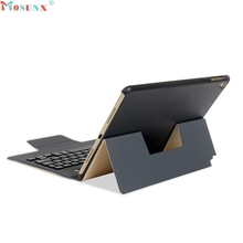 Mosunx Factory Price Ultra Aluminum Bluetooth Keyboard with Leather Case Cover For iPad Pro 9.7 iPad Air1/2 0306 Drop Shipping(China)