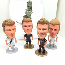 Soccerwe figure football stars David Beckham classic Movable joints resin model toy action figure dolls collectible gift