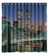 Great Bridge In New York Printed Classical Nice Best Decor Bath Room Custom Shower Curtain (120x200)cm Free Shipping(China)