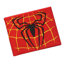 Marvel Comics Spider Man Cartoon Students Male Short Wallet(China)