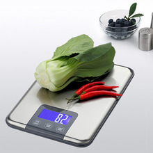 Buy 5KG 15KG 1g Touch Buttons Digital Kitchen Scale 15kg Big Food Diet Weight Balance Slim Stainless Steel Precise Electronic Scales for $14.68 in AliExpress store