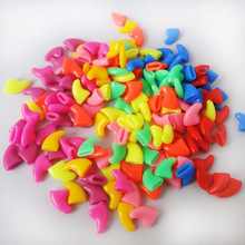 2016 Hot Sale 100pcs Soft Cat Pet Nail Caps Claw Control Paws off + 5 pcs Adhesive Glue Size XS S M L 14 Colors Available(China)