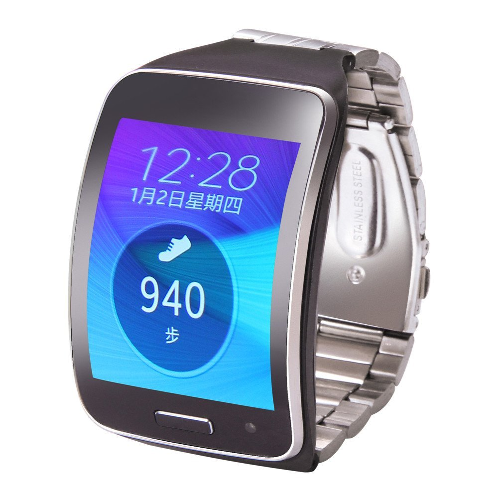 V-MORO Adjustable Metallic Replacement Wristband Fitness Bracelet Strap For Samsung Gear S SM-R750 Steel Wrist Band R750<br><br>Aliexpress