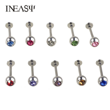Labret Piercing Studs 3Pcs/Lot Lip Ring Stainless Steel Round Lip Nails Color Body Puncture Fashion Sexy Body Jewelry Piercings