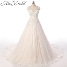 Buy vestidos de novia Arrival New 2018 Wedding Dress Sweetheart Sexy Backless Chapel Train Sleeveless Lace Bride Dresses for $285.43 in AliExpress store