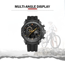 WEIDE Digital Male Watch Brand Luxury Men Clock Saat Men sport Waterproof silicone military Analog Electronic Watch chronographs(China)
