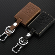 Genuine Leather Car Key Case Fob Cover Fits for Cadillac SRX XTS SLS CTS ATS Special Car Smart Remote Key Rings Car Keychain