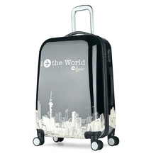 24-inch custom design rod box travel bags character printing boarding luggage box universal wheel men and women