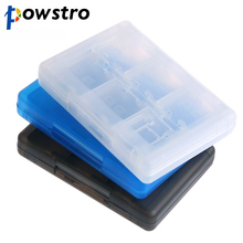 POWSTRO 28 in 1 Protective Game Card Holder Cartridge Anti Dust Memory Card Case Box For Nintendo DS DS Lite 3DS 3DS XL LL