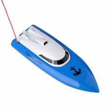 Hot Mini Remote Control Boat 4-Channel Light Weight Design Bluilt-in Rechargeable Battery Racing Boat for Children(China)