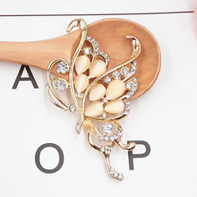 Dower Me Brand 1pcs Golden flying butterfly Phone Drilling Mobile Phone DIY Accessories Rhinestone Metal Mobile Phone Decoration(China)