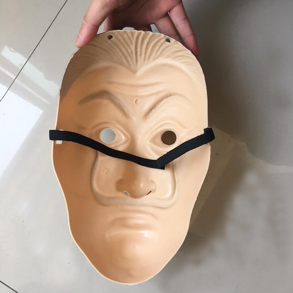 Salvador Dali Masks 2018 Hot Sale La Casa De Papel Clown Face Cosplay ABS Masks Halloween Party Masquerade Props4