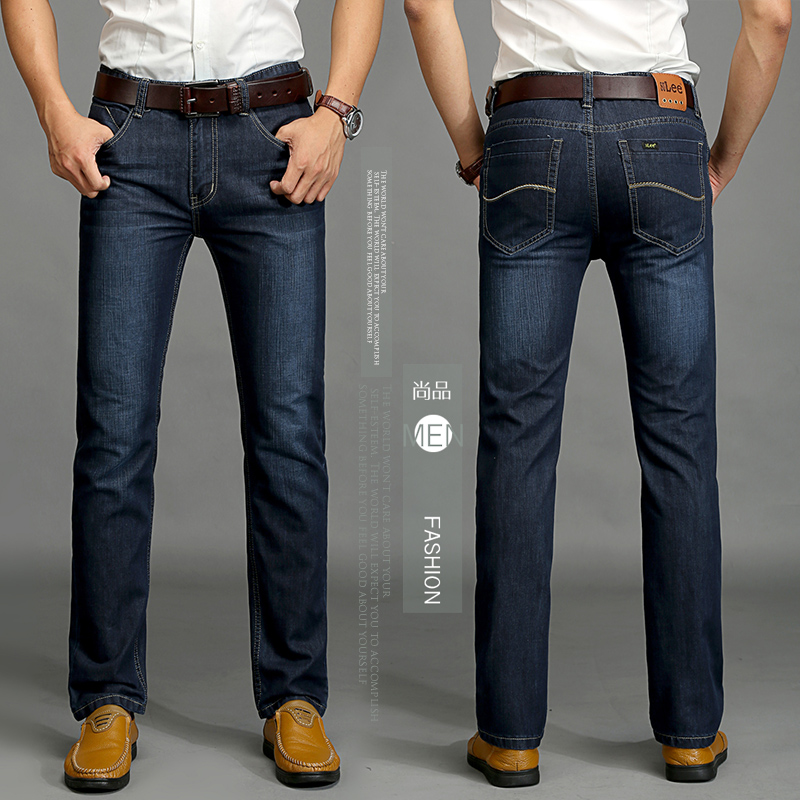 2017 New Mens Winter and Autumn  Dark blue Thick Jeans Men Demin Jeans Men Warm Pants Trousers Одежда и ак�е��уары<br><br><br>Aliexpress