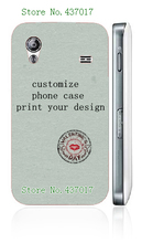 diy customize own design logo photo case hard plastic back cover case for Samsung galaxy ace s5830,free shipping