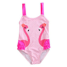 Fashion Kids Baby Girls Swan clothing Bikini Suit Swimsuit Swimwear Bathing One-Piece Swimming Clothes