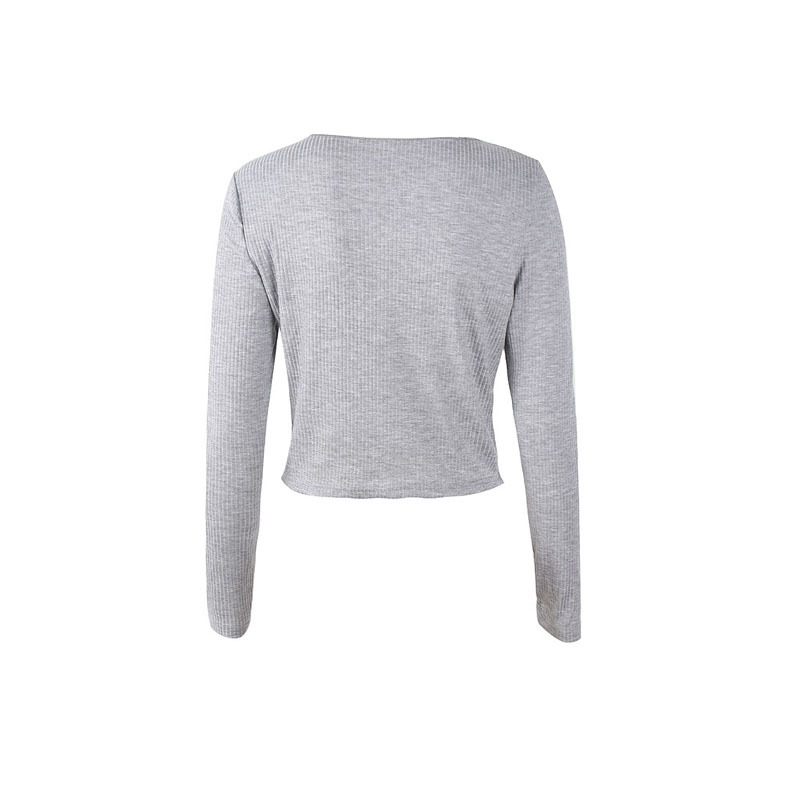 Crop Top Women Long Sleeve Button O-neck Spring Summer T Shirt Women Sexy Camiseta Mujer Women Tshirt Tee Shirt Femme 2019 Tops232