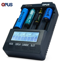 Opus BT-C3100 V2.2 Smart 4 Port Universal Battery Charger LCD Li-ion NiCd NiMh AA AAA 10440 14500 16340 17335 17500 18490 17670(China)