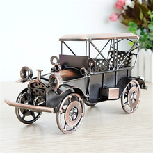 Two-Color Antique Classical Bubble Car Model Craft Metal Material Collection Study Bedroom Decorations Presents for Friends Kids