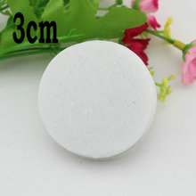 3cm  white color round  felt patch for DIY flower handmade  circles flower felt pads hair accessories