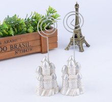 20pcs Silver Castle Name Number Menu Table Place Card Holder Clip Wedding Party Reception Favor