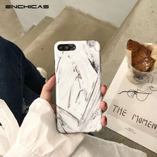 ENCHICAS for iPhone 6 6s 7 8 Plus Marble Retro Art Phone Case Granite Stone Back Cover Soft TPU Silicon(China)