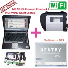 2017.9 MB SD C4 Connect Compact 4 Plus WIN7 D630 Laptop Install Already star diagnosis compact 4 Mb star C4 With Computer d630(China)