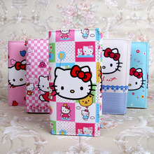 Cute Cartoon Hello Kitty Wallet Cat Bag Women Leather Wallets For Girls Clutch Purse Lady Party Wallet Card Holder Girls Gift(China)