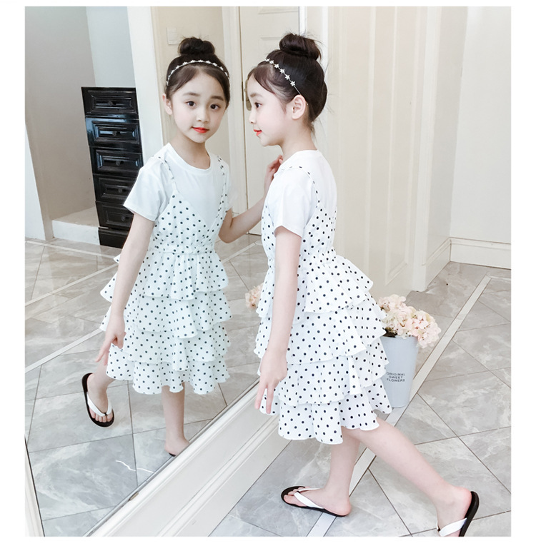 2 Pcs Teenage Girls Clothing Sets Kids Outfits Baby Girls Fashion Clothing Sets Kids Sleeveless Dress And T Shirts Clothes Suits 12 Online shopping Bangladesh