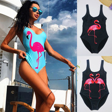 Buy Print One piece Swimsuit 2018 New Summer Sexy Swimsuit Ladies Beach Bathing Suit Swimwear Cut