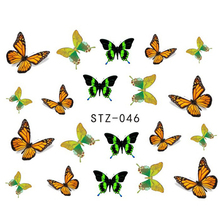 1 Sheets Fashion Beauty 3d Designs Colorful Bow Butterfly Ties Nail Art Stickers Nail Decals DIY Stencils Styling Tools STZ046(China)