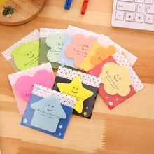 8 pcs/Lot Super note Candy color Post it Sticky notes Star apple love Bookmarks stationery office material School supplies DM460