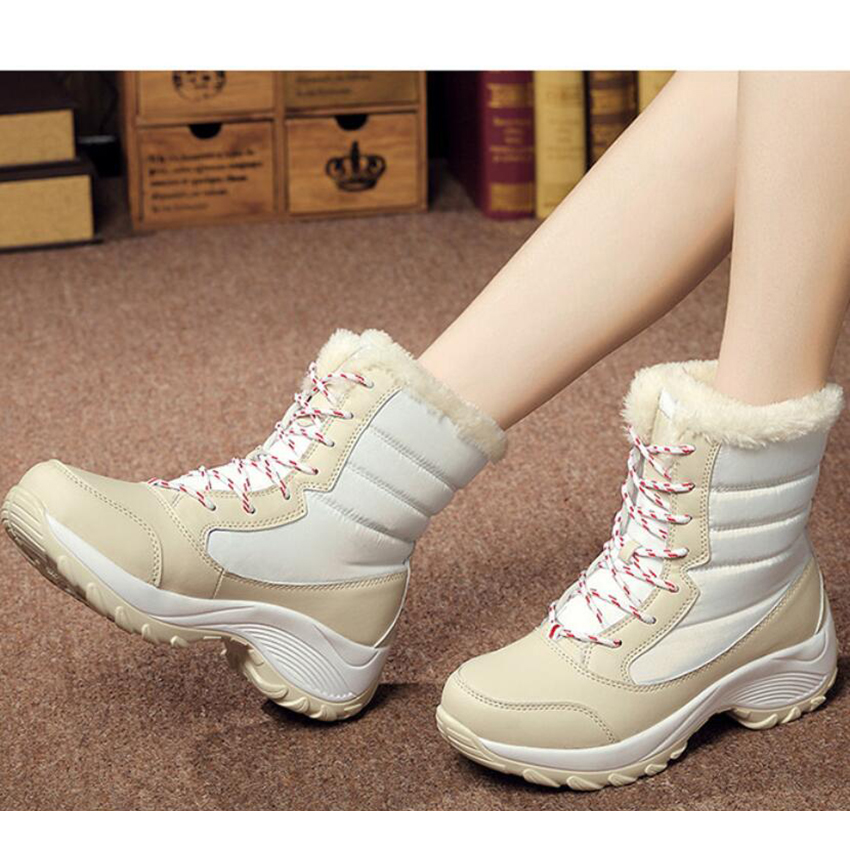 2017 snow boots women waterproof botas mujer thick platform shoes woman mid calf antiskid outdoor women boots plus size 35-41<br><br>Aliexpress