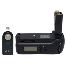 Meike MB-D80 LCD Timer Battery Grip for Nikon D80 D90 MBD80 SLR Digital Camera + ML-L3 Remote Control(China)