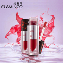 Free shipping Lip Makeup Flamingo Cheek Moisturizer Lip Gloss Colorful Glossy Stain Liquid shimmer hydrated full color lip glaze