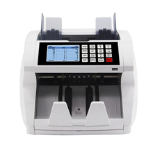 Multi-Currency Cash Banknote Money Bill Counter Counting Machine with UV MG IR Counterfeit Detector Value Mix Counting Function