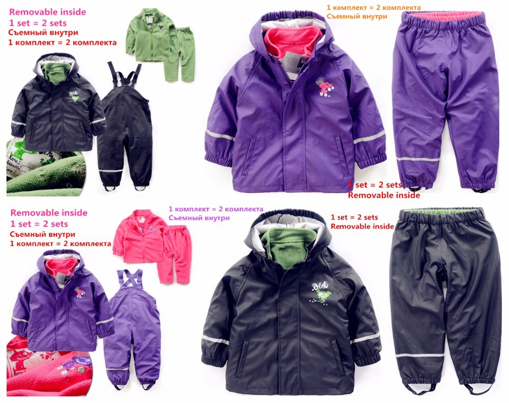 2018 Direct Selling Top Acetate Inner Child Weatherproof Waterproof Suit And Ski Outfits Removable Within Pu Can Be Worn Alone <br>