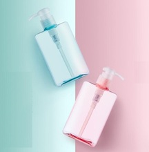 500ml Pump Cap Pet Containers, Large Empty Storage Plastic Cosmetic Shampoo Cream Soap Bottles , pink Shower Gel Bottles