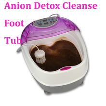 anion detox electric foot bath tub electrical body cleanse array detox foot spa medical massage foot massager