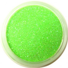 Neon Green Glitter Glitter DIY Nail Powder Dust Fashion Nail Tip Decoration Tools UV Gel Nails, 5g jar. Free shipping