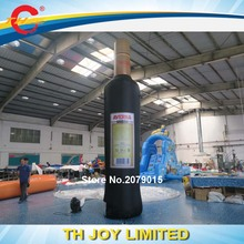 Free shipping to door!5m/17ft giant bottle model/outdoor advertisement air model/custom inflatable bottle model